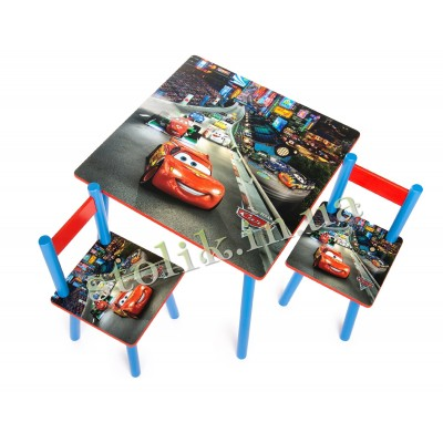 Children's table Cars with 2 chairs B