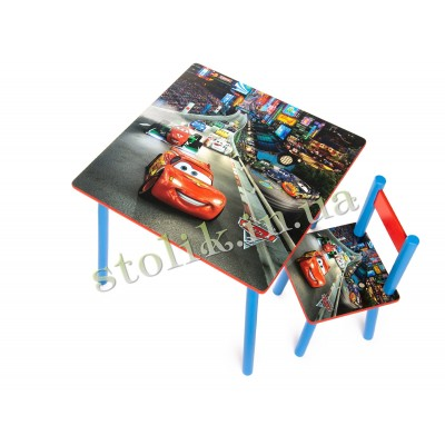 Children's table Cars with 1 chair B