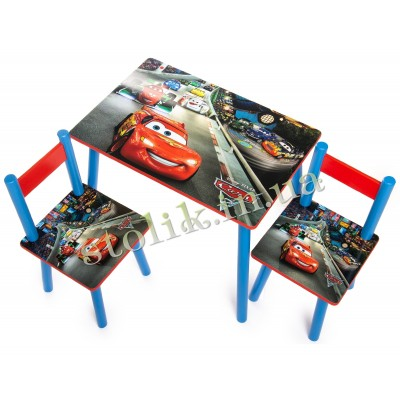 Children's table Cars with 2 chairs