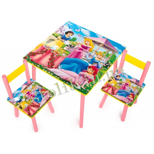 Children's table of the Princess with 2 chairs B