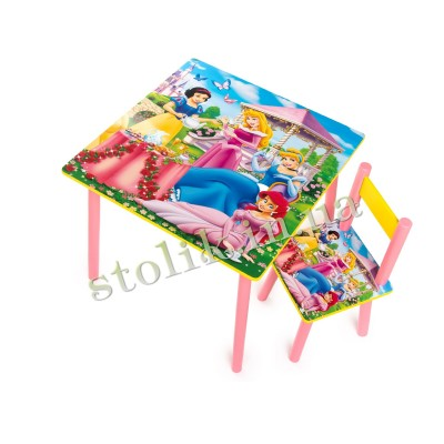 Children's table of the Princess with 1 chair B