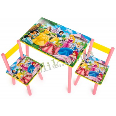Children's table of the Princess with 2 chairs