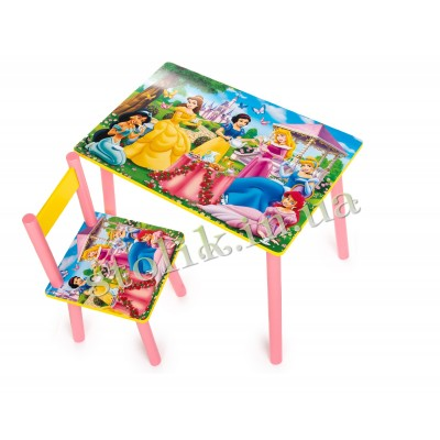 Children's table of the Princess with 1 chair