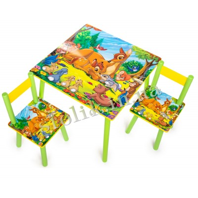 Children's table of Bembi with 2 chairs B
