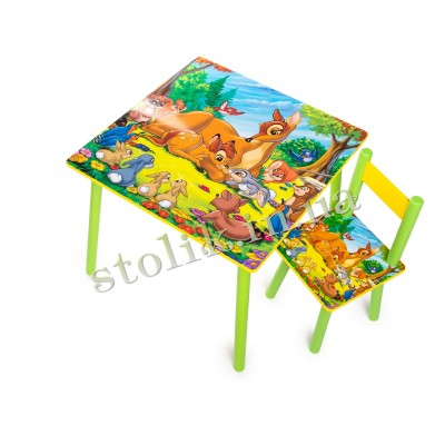 Children's table of Bembi with 1 chair B