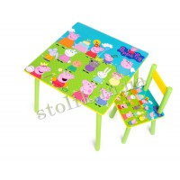 Children's table Peppa with 1 chair B
