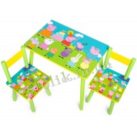 Children's table Peppa with 2 chairs А