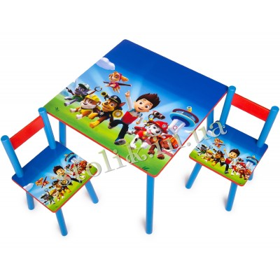 Children's table Paw Patrol with 2 chairs B