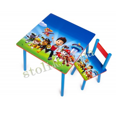 Children's table Paw Patrol with 1 chair B