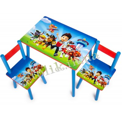 Children's table Paw Patrol with 2 chairs