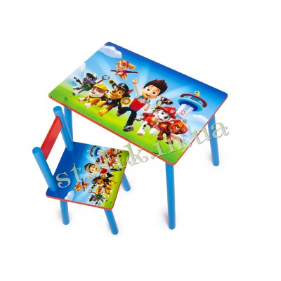 Children's table Paw Patrol with 1 chair