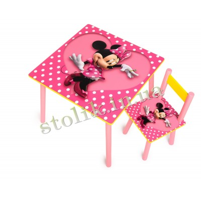 Children's table Mini with 1 chair B