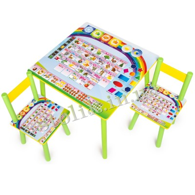 Children's table Knowledge with 2 chairs B