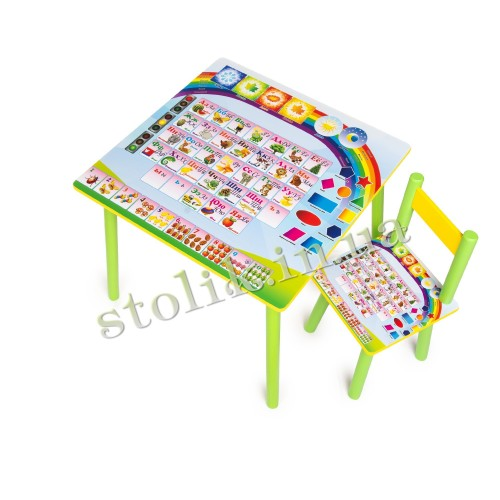 Children's table Knowledge with 1 chair B
