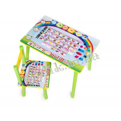 Children's table Knowledge with 1 chair