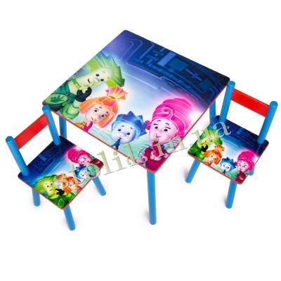 Children's table Fixiki with 2 chairs B