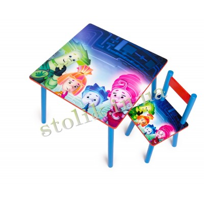 Children's table Fixiki with 1 chair B