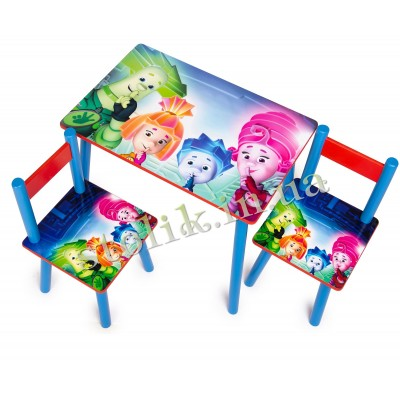 Children's table Fixiki with 2 chairs