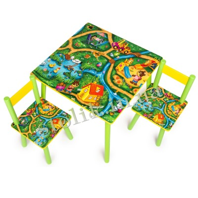 Children's table Town with 2 chairs B