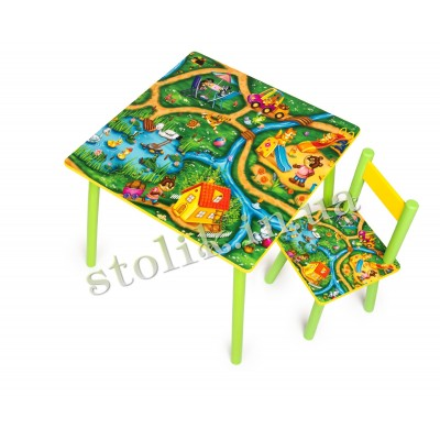 Children's table Town with 1 chair B