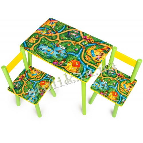 Children's table Town with 2 chairs А