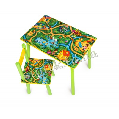 Children's table Town with 1 chair А