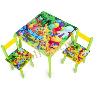 Children's table Winnie Pooh with 2 chairs B