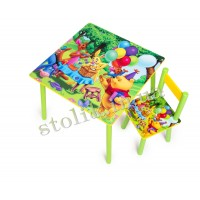 Children's table Winnie Pooh with 1 chair B
