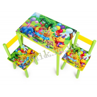 Children's table Winnie Pooh with 2 chairs А