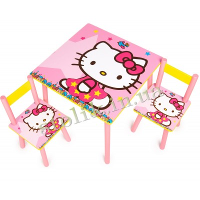 Children's table of the Hello Kitty with 2 chairs B