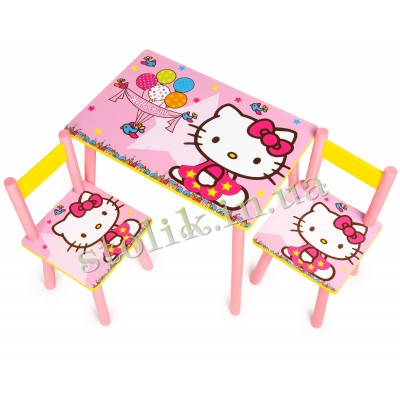 Children's table of the Hello Kitty with 2 chairs