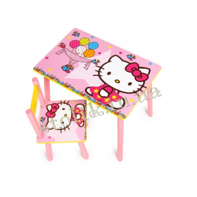 Children's table of the Hello Kitty with 1 chair