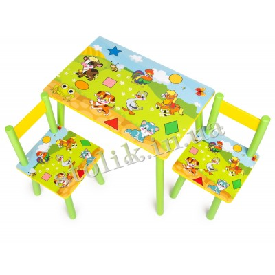 Children's table Kids with 2 chairs