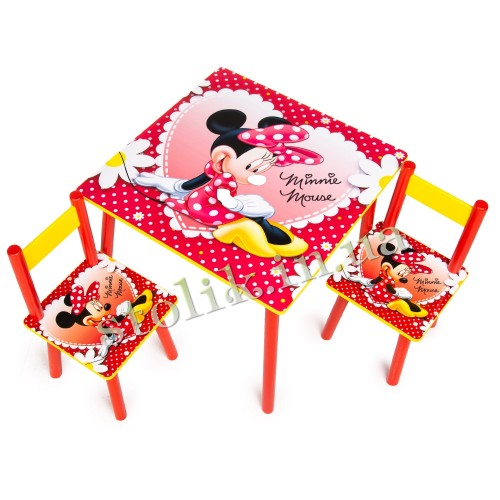 Children's table Mini Mouse with 2 chairs B