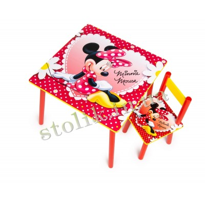 Children's table Mini Mouse with 1 chair B