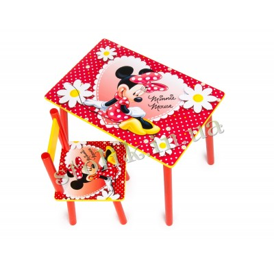 Children's table Mini Mouse with 1 chair